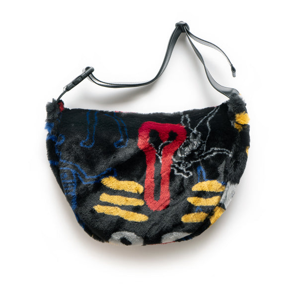 Dude Bum Bag Fake Fur - Black
