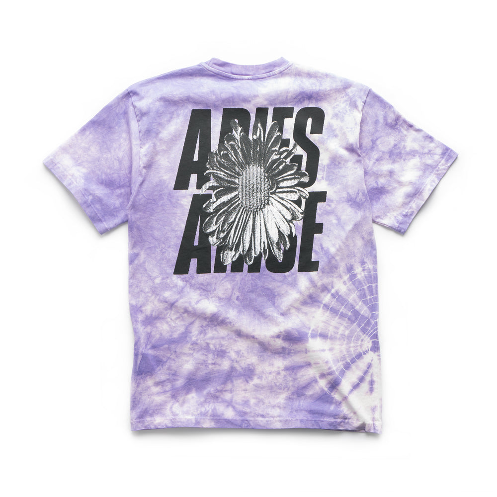 iD Flower Tie Dye SS Tee - Purple