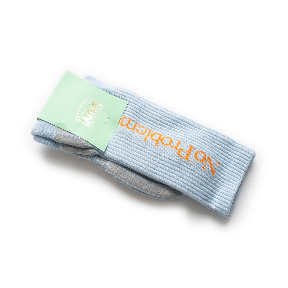 No Problemo Socks - Light Blue