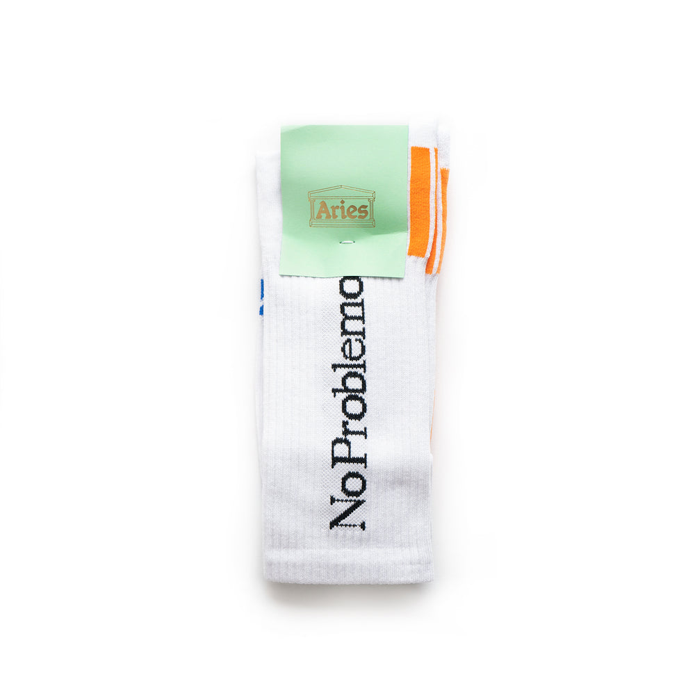 No Problemo Socks - White