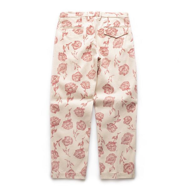 Rose Chinos - Ecru/Red