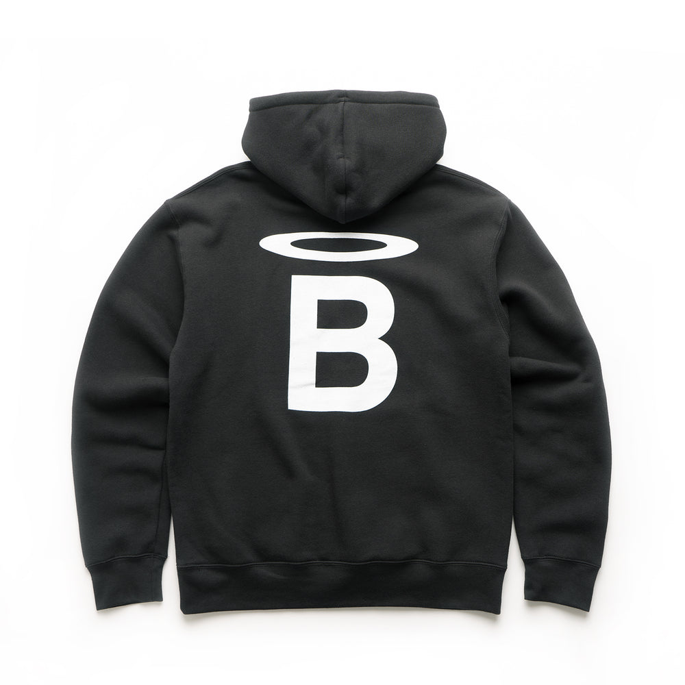 Halo B Hooded Sweatshirt - Black