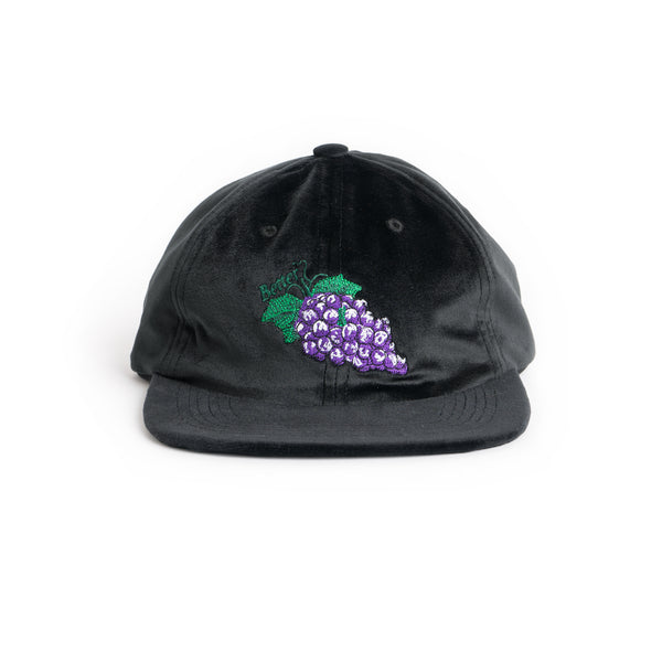 Grape Velvet Cap - Black