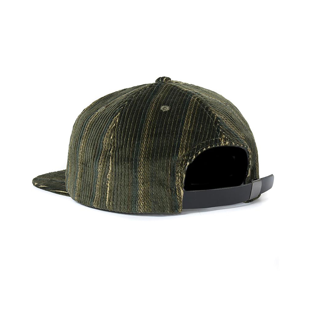 Cord 5 Panel - Green Stripe