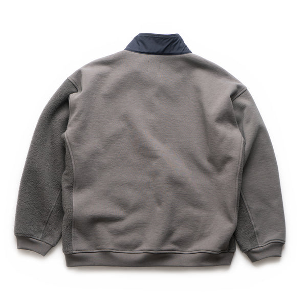 Mock Neck Pullover - Warm Grey