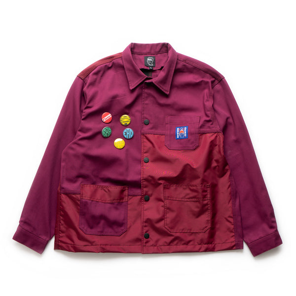 Paneled Chore Coat - Raspberry