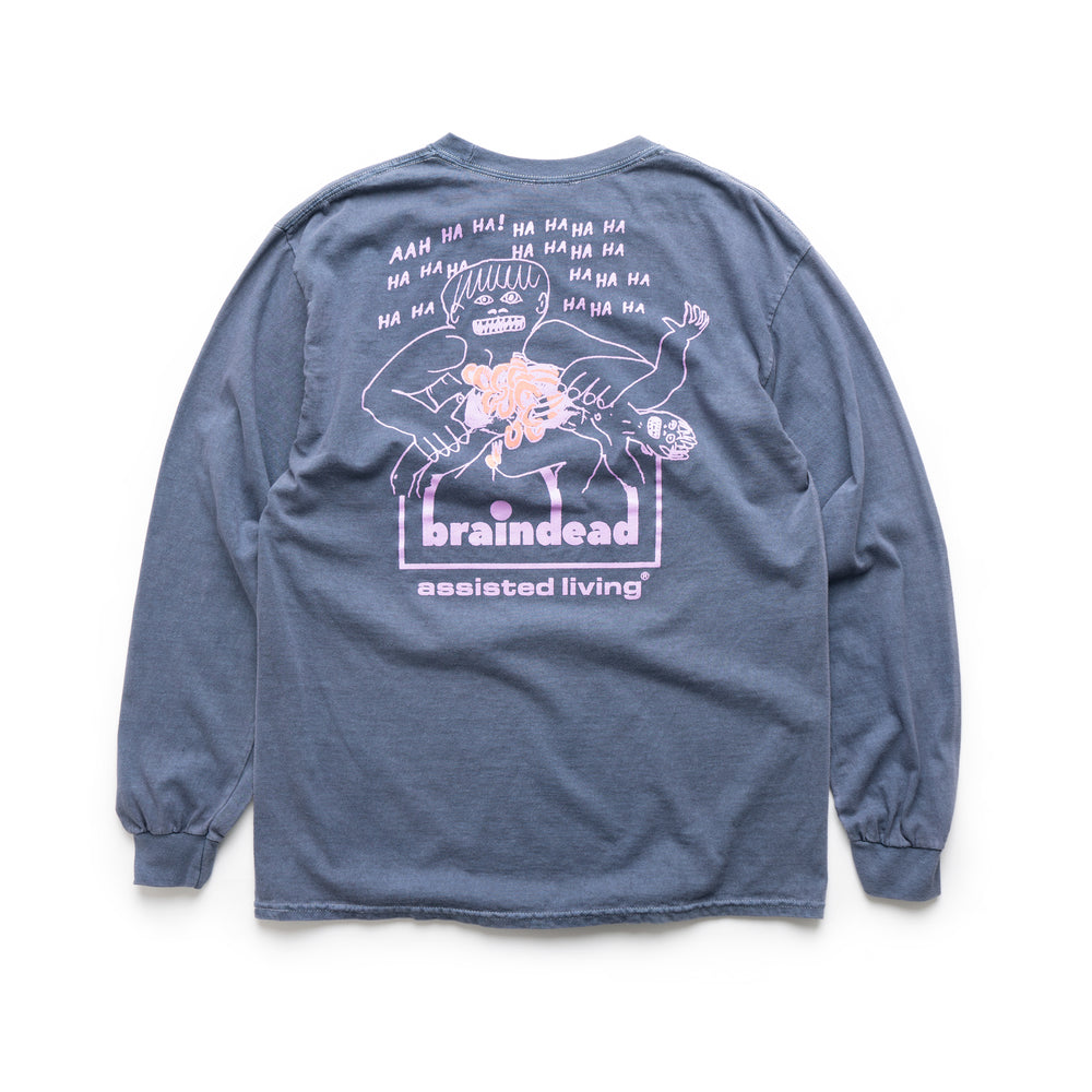 Processed World Longsleeve Tee - Navy