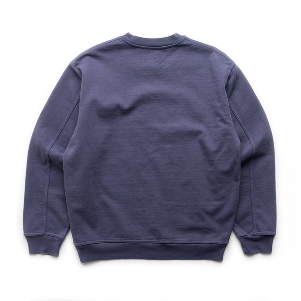 Snail Trail Crewneck - Washed Navy