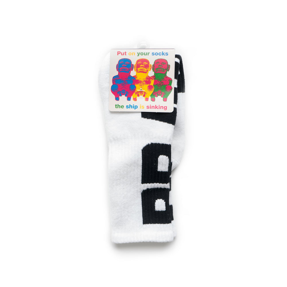 Vertical Type Socks - White