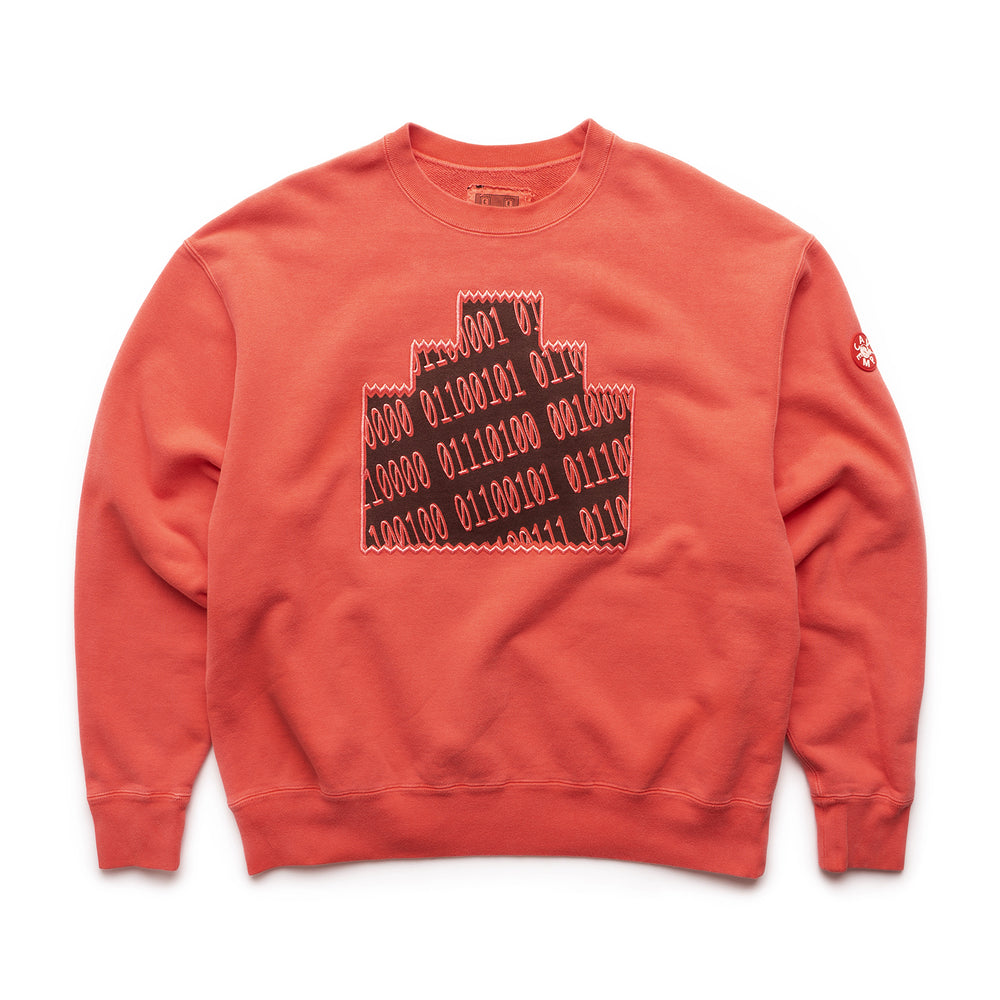 Overdye Numbers Ziggurat Crewneck - Red