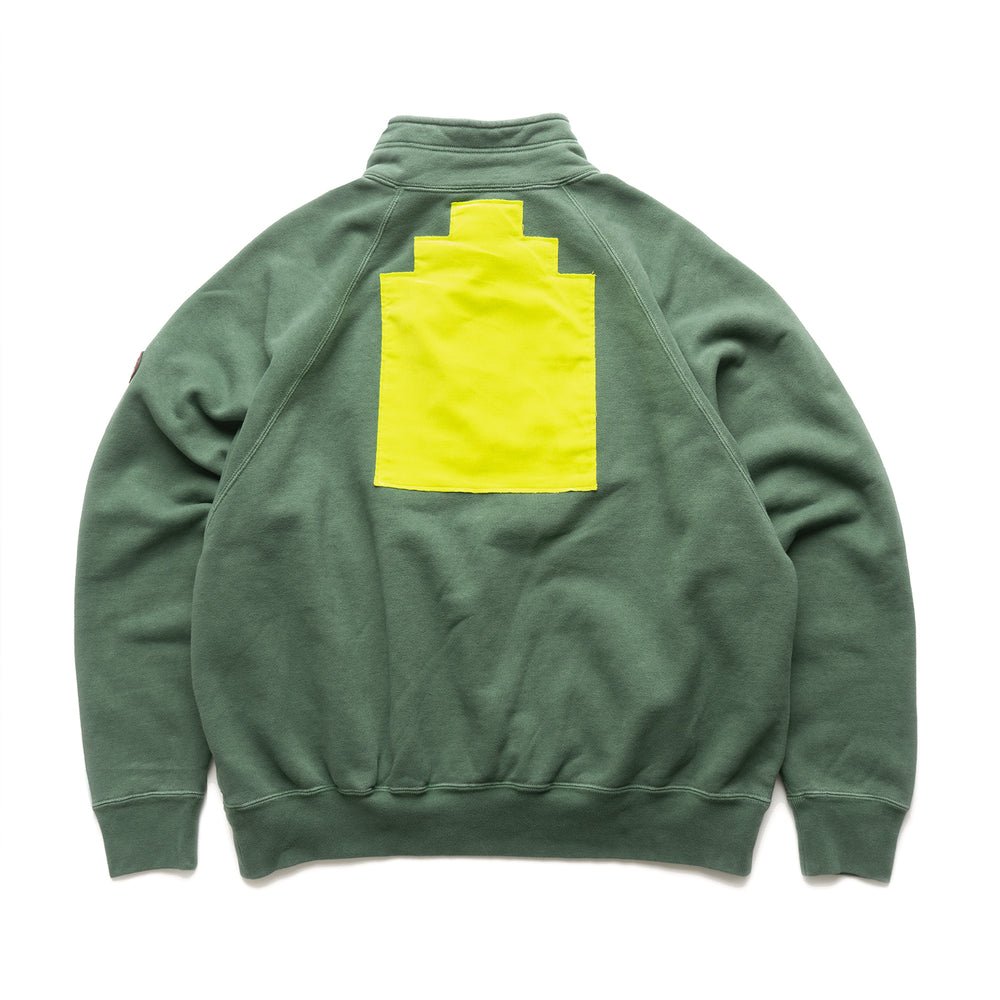 Half Zip Sweat - Green