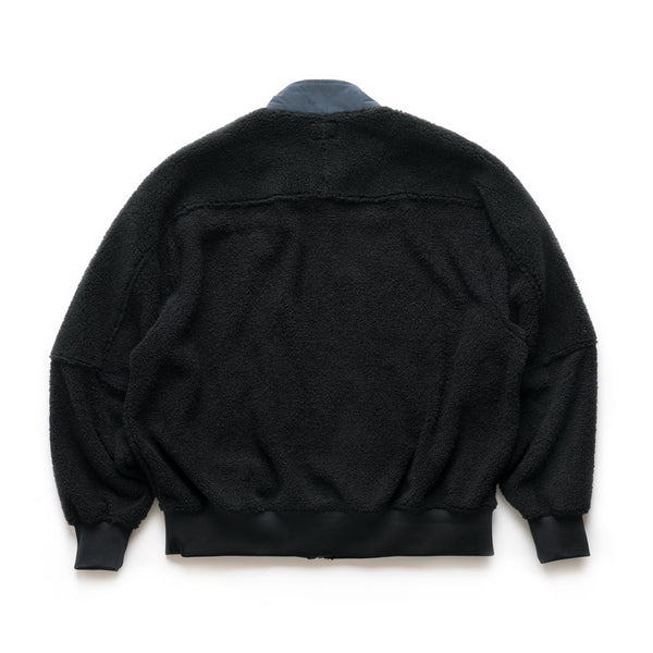 Panel Fleece Zip Up - Black