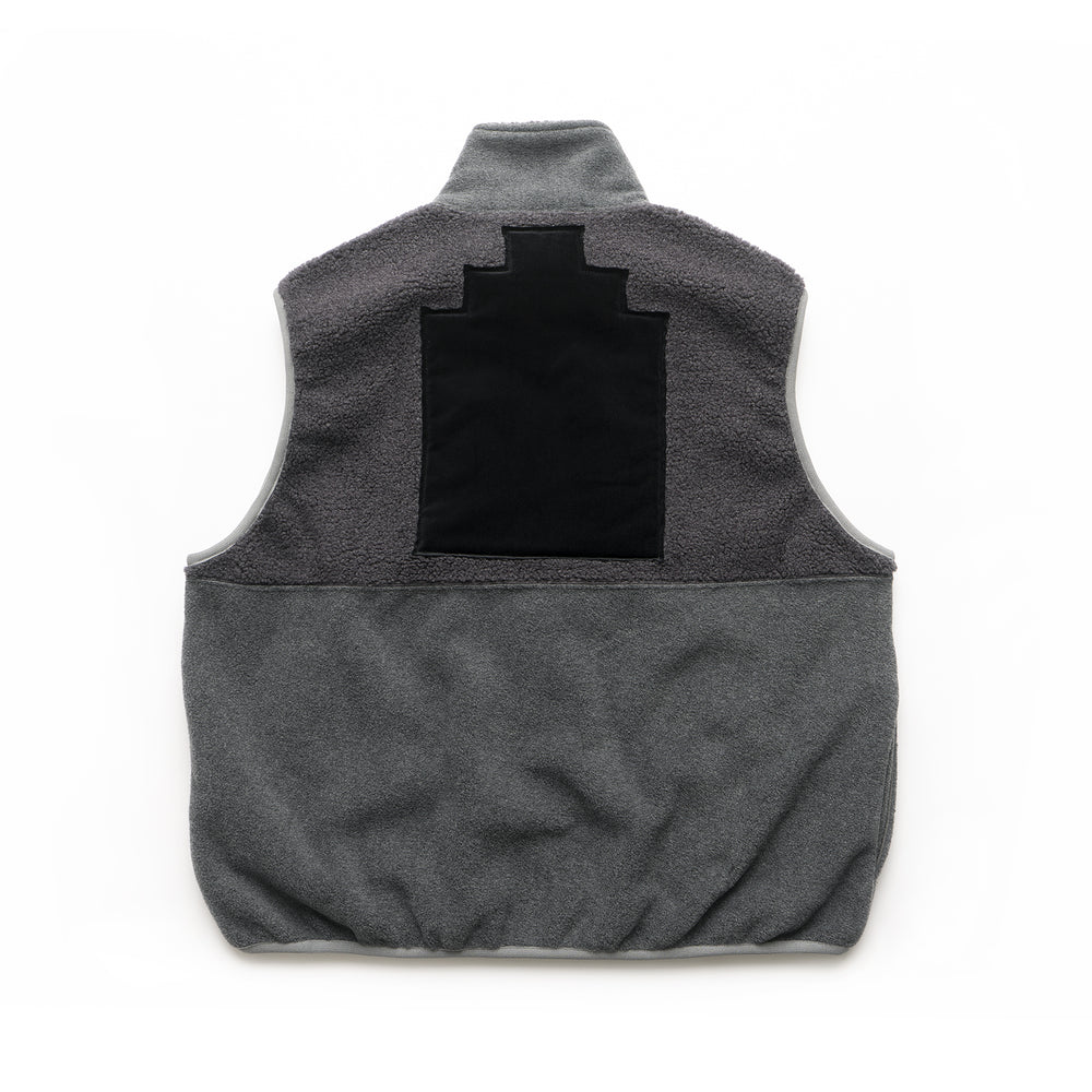 Fleece Zip Vest - Black