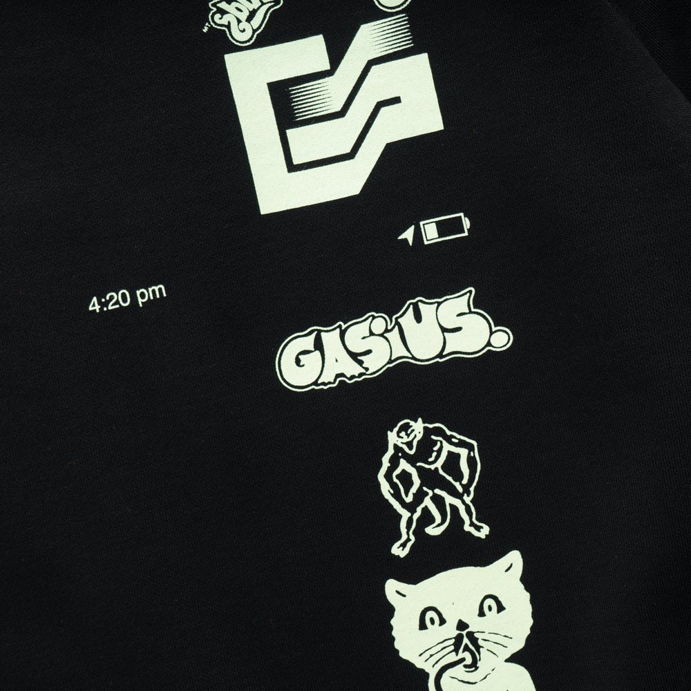 The Extra Gasius Crewneck - Black