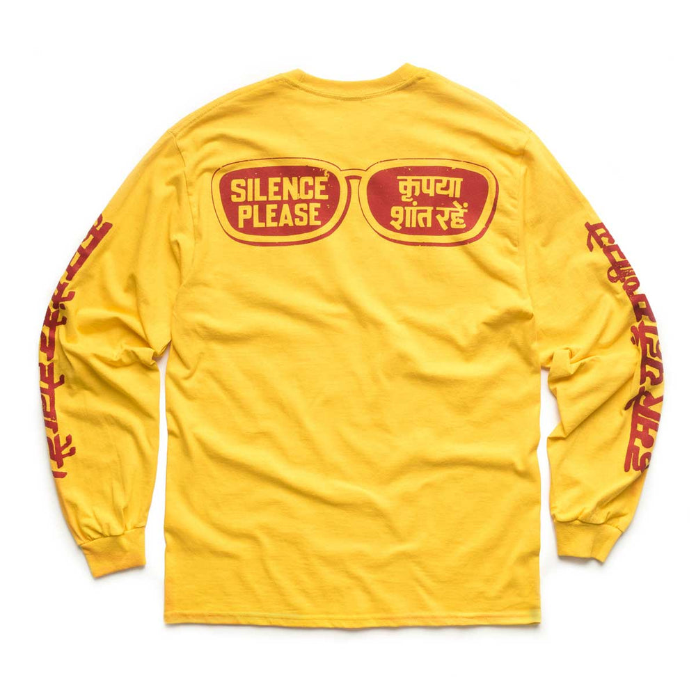 Silence Please LS Tee - Gold