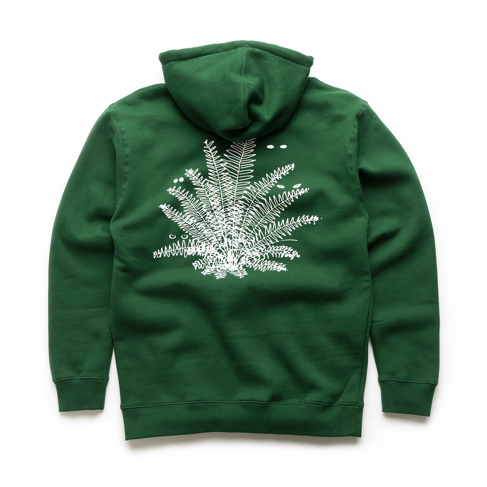 Super Natural Pullover Hood - Dark green