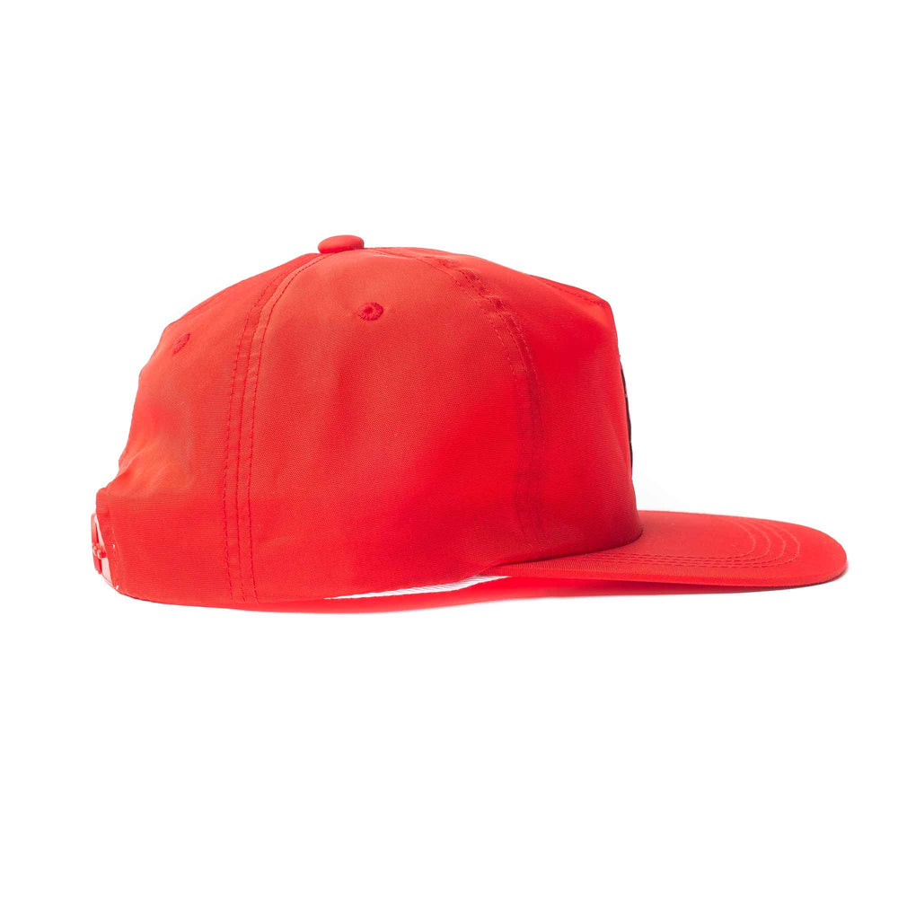 Nylon Flat Visor Cap - Red