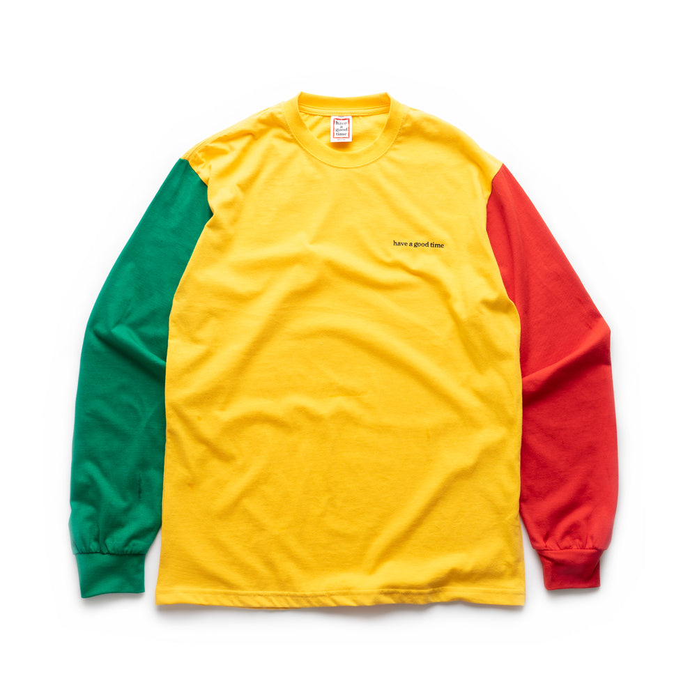 3 Color L/S Tee - Green/Yellow/Red