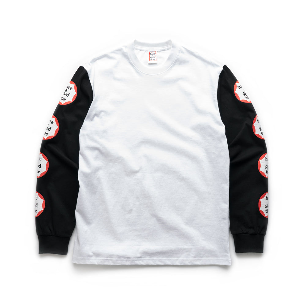 Arm Circle Frame Logo L/S Tee - White/Black