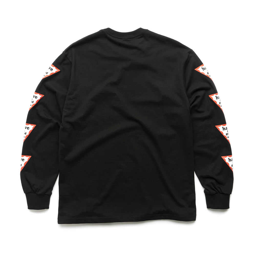 Arm Triangle Frame L/S Tee - Black