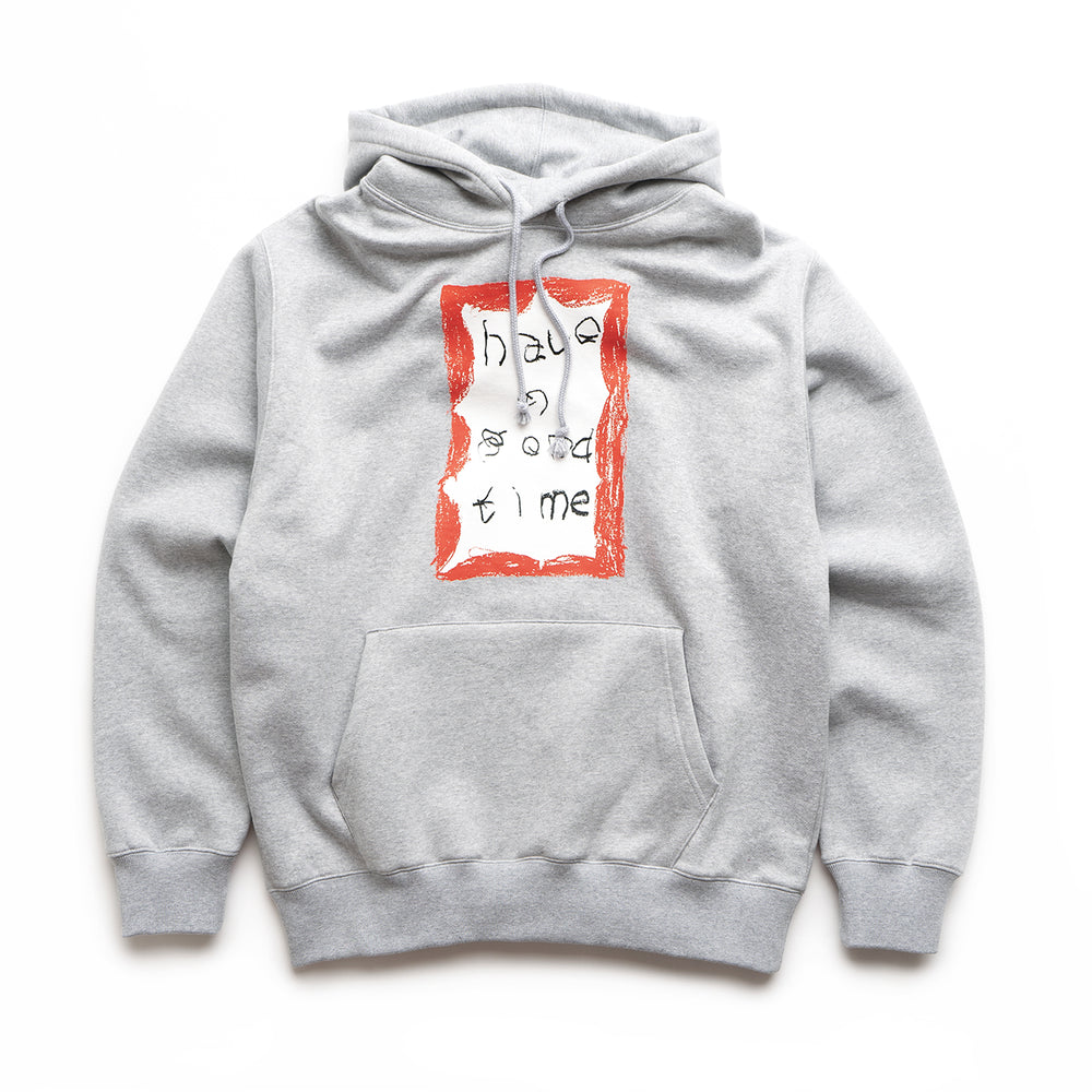 Crayon Frame Pullover Hoodie - Heather Grey