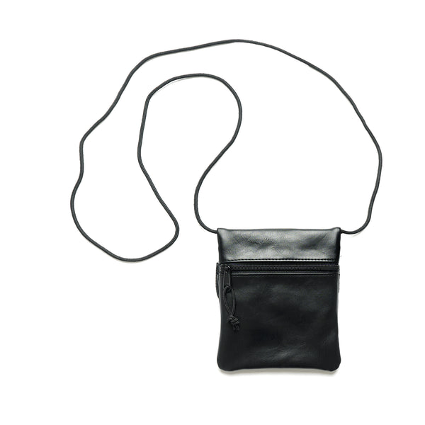 Frame Small Leather Shoulder Bag - Black
