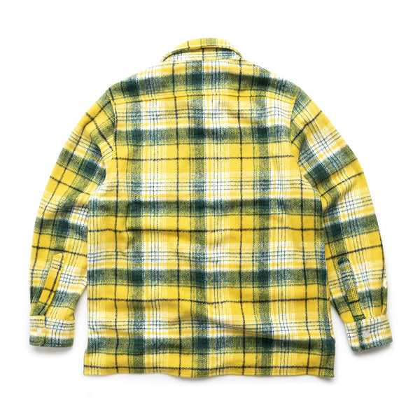 Side Logo Checked Shirt - Yellow