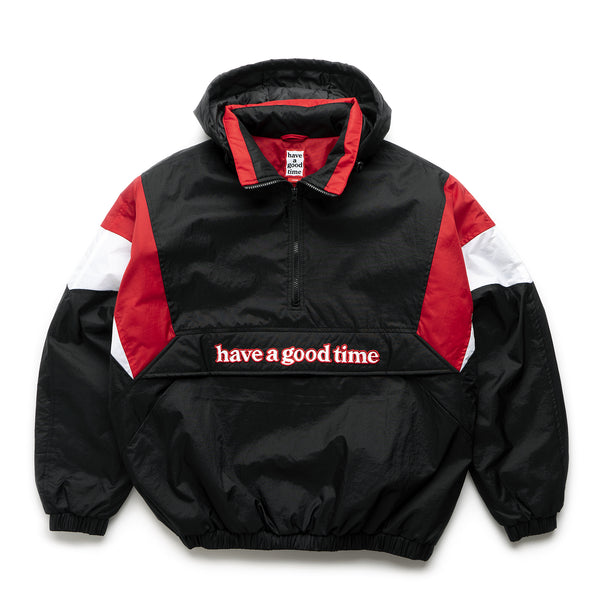 Side Logo Padded Anorak Jacket - Black