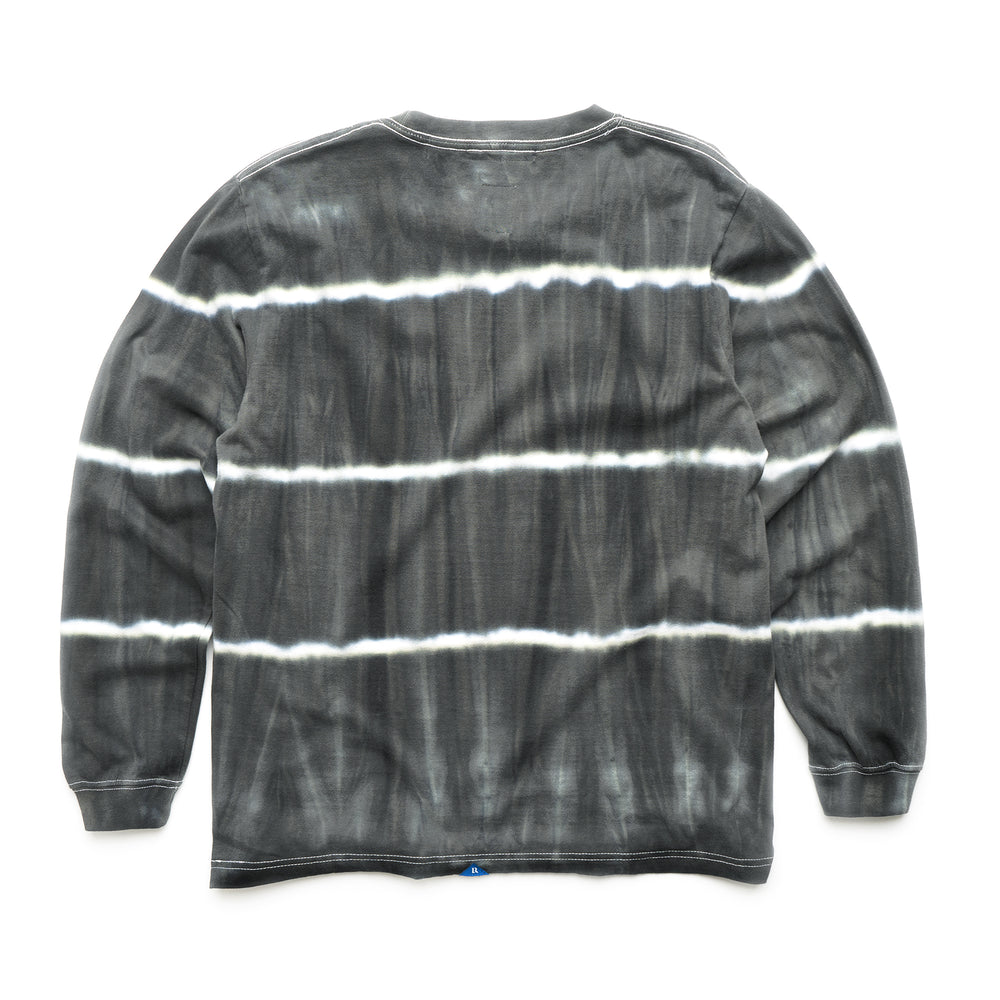 Tye Dye Striped L/S Tee - Black