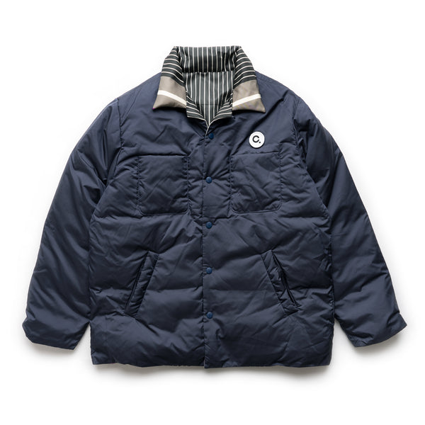 DW 01 Shirt Down Jacket - Navy/Grey/Purple