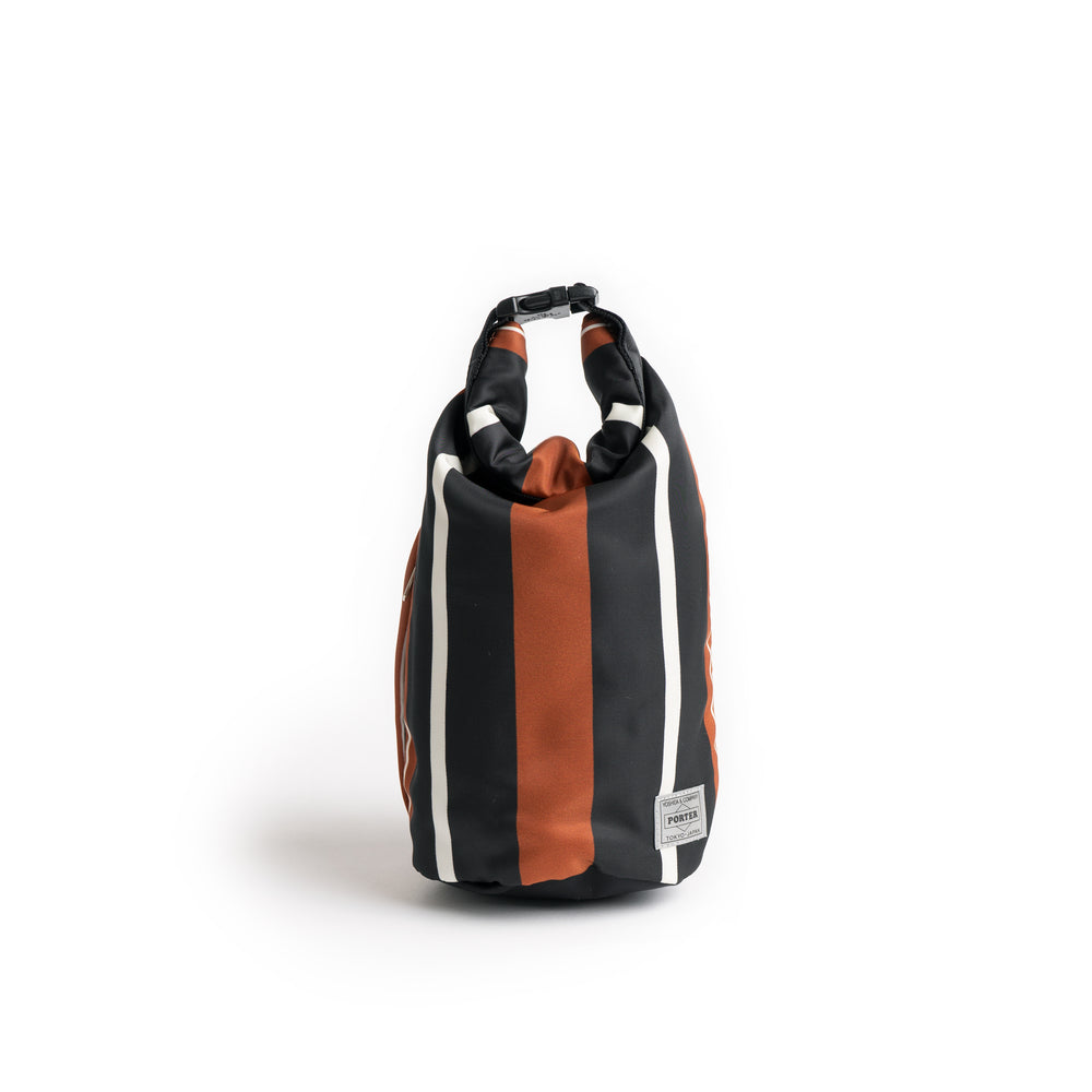 BG 02 Porter N Stripe Roll Bag (Small) - Brown/Black