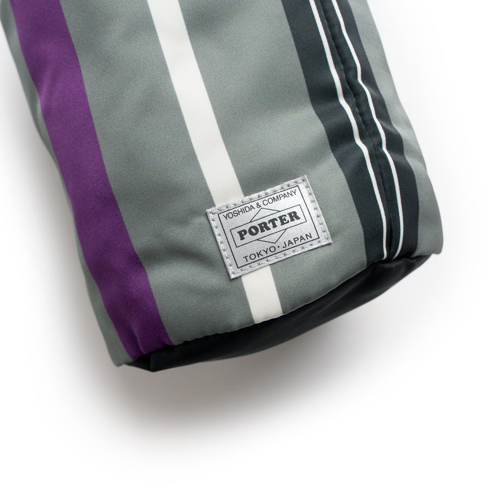 BG 02 Porter N Stripe Roll Bag (Small) - Grey/Purple
