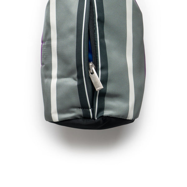 BG 01 Porter N Stripe Roll Bag (Big) - Grey/Purple
