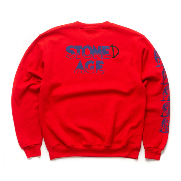 STONE(D) AGE Crew - Red