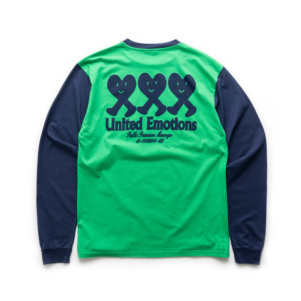 United Emotions LS T-Shirt - Green/Navy