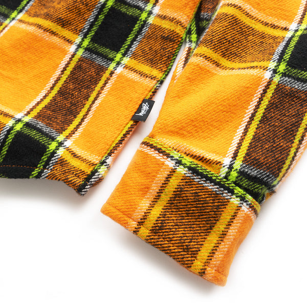 Ace Plaid LS Shirt - Orange