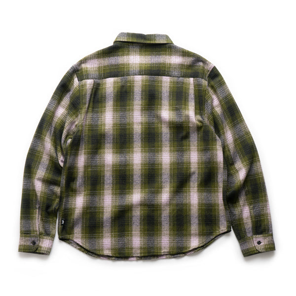 Alton Plaid L/S Shirt - Olive