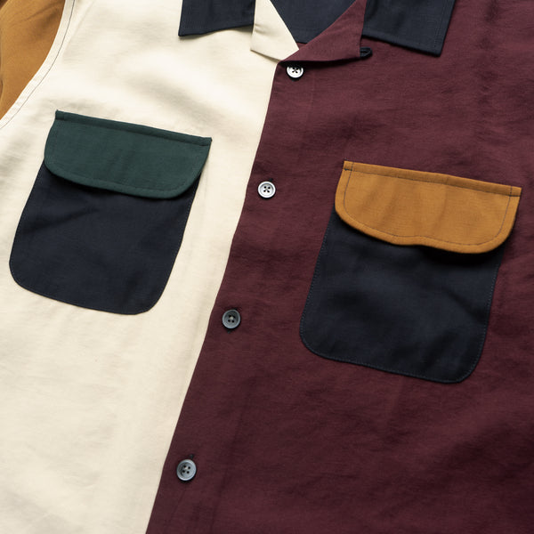 Color Block Rayon Shirt - Multi