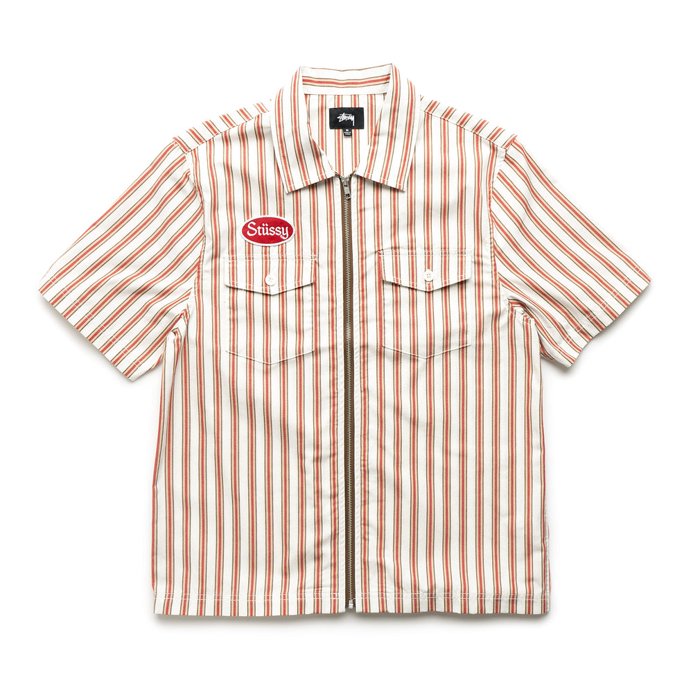 Garage Zip Up Shirt - Stripe
