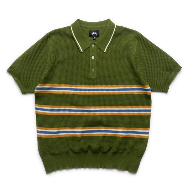 Montego Stripe SS Shirt - Green
