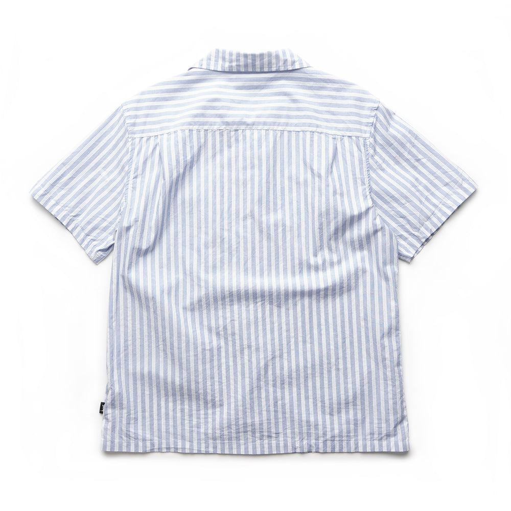 Open Collar Shirt - Blue