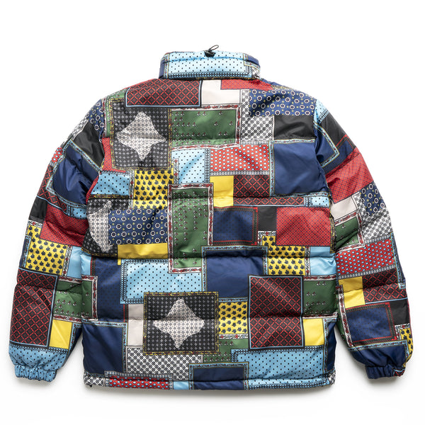 Patchwork Puffer Jacket - Multi