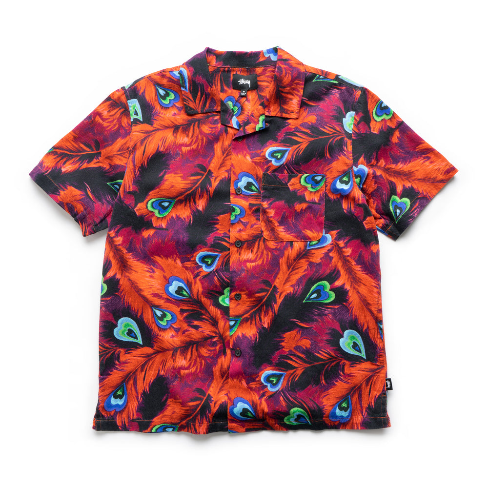 Peacock Shirt - Red