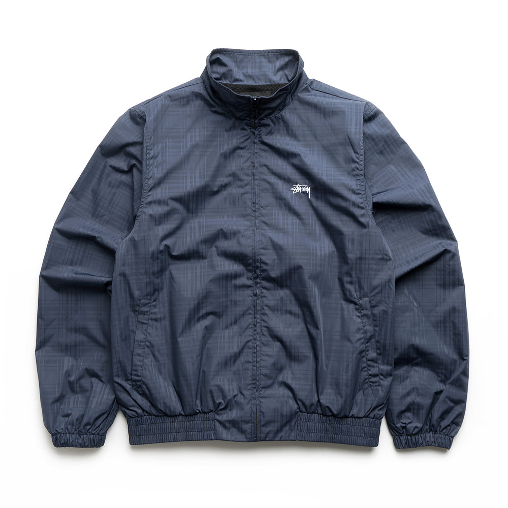 Plaid Track Jacket - Navy