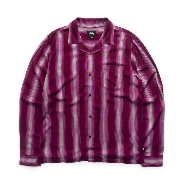 Shadow Striped Shirt - Berry