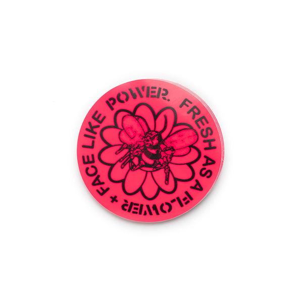 Fresh As A Flower Sticker - Pink