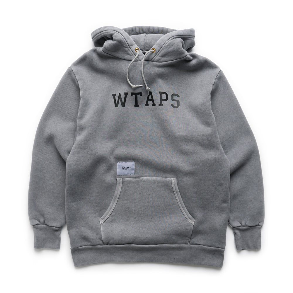 College Design Hooded Sweatshirt - Gray