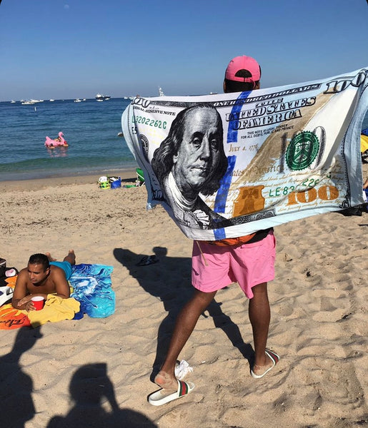 $100 Bill Beach Towel - MegaaMobileMall