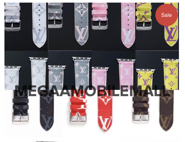 LV Luxury Apple Watch Bands