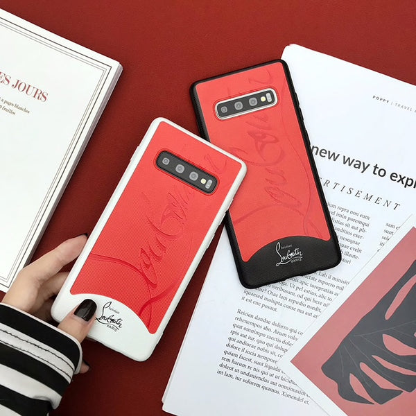 Red Bottom CL Luxury Samsung Galaxy S8 - S10 Plus/Note8/Note9 Case - MegaaMobileMall